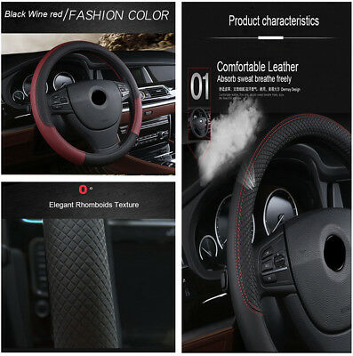 Car-styling Embossing Design Sport Style Auto Steering Wheel Covers Pad Decor