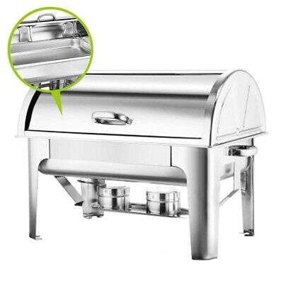 Soga 9L Stainless Steel Round Roll Top Buffet Chafer Dish