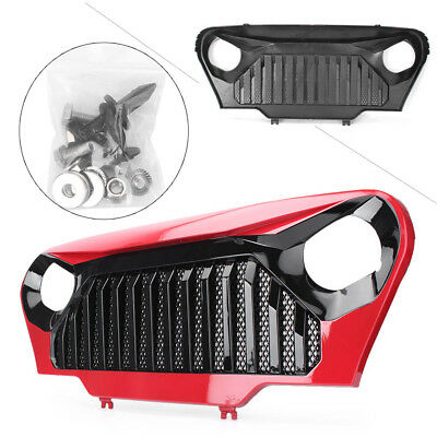 Front Gladiator Grill Grille Red/Matte w/Mesh Fit Jeep Wrangler TJ 1997-2006 Car