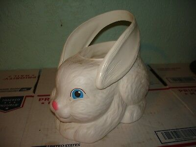 "Empire  Easter basket  bunny rabbit blowmold Blow mold 9"" tall NICE"