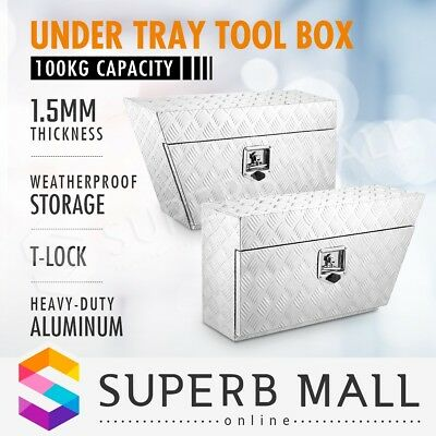Pair of Under Tray Tool Box Truck Vehicle Trailer Ute Storage Underbody Toolbox