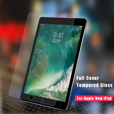 2x Genuine Tempered Glass Screen Protector For Apple iPad 9.7 inch (2018) 6th Ge