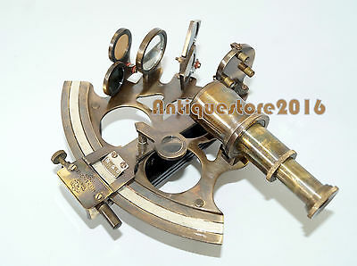 Nautical Solid Brass Marine Sextant Astrolabe Antique Maritime Christmas Gift