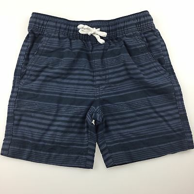 Boys size 5, H&T, blue stripe cotton shorts, elasticated waist, GUC