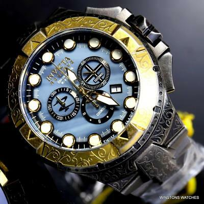 f758fd610 Invicta Reserve Excursion Excalibur Swiss MADE 50mm Distress Steel MOP Watch  New