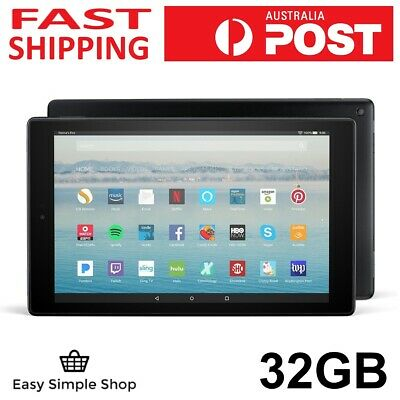 "Amazon Fire HD 10 Tablet 32GB Black 7th gen 10.1"" 1080p W AUS adaptor"