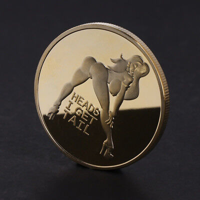 Heads I get Tail Tails I get Head Adult Novelty Coin Mirror Finish Collectible
