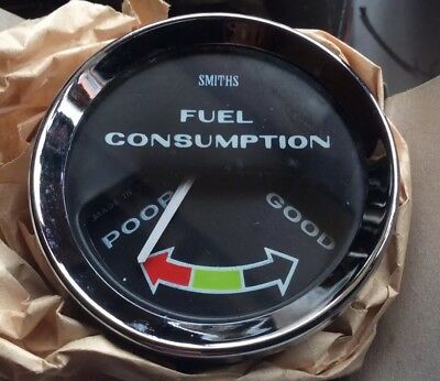Rare Smiths Final Model Of Their Vacuum/ Fuel Consumption Gauge. New Old Stock