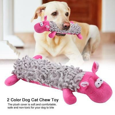 Funny Pet Cat Dog Puppy Chew Squeaker Squeaky Plush Sound Training Toy