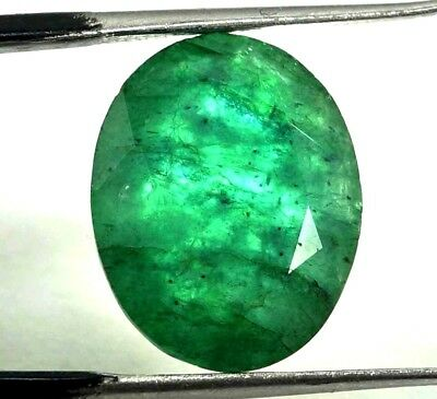 GGL Certified 9.30 Ct Natural  Exceptional Oval Cut Emerald Remarkable Gemstone