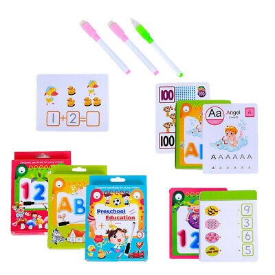 Learn to Write Flashcards Preschool With Wipe-clean Pen for Ages