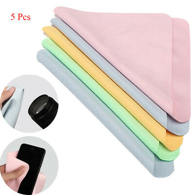 5pcs Microfiber Cleaning Cloth For Phone Screen Camera Lens Eye Glasses Hot