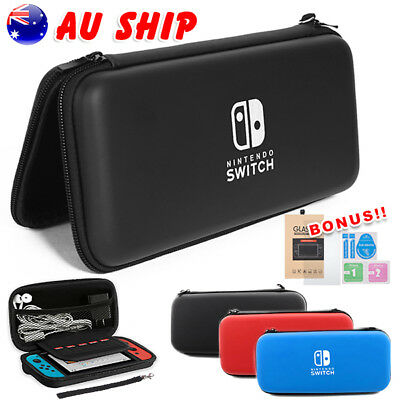 Nintendo Switch Carry Case Storage Console Protective Shell + Tempered Glass TW