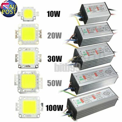 LED SMD Chip Bulb 10W/20W/30W/50W/100W LED Driver Supply High Power Waterproof L
