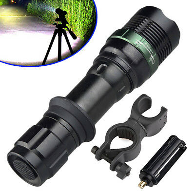 Tactical 12000LM T6 360° Bike Mount Clip 18650 LED Flashlight Torch Light