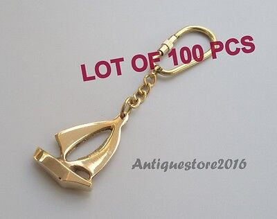 Vintage Reproduction Brass Ship Key Chain Ring Collectible Lot Of 100 Pcs Gift