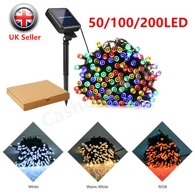 200LED Solar Power Fairy Lights Lamp String Garden Outdoor Party Wedding Xmas UK