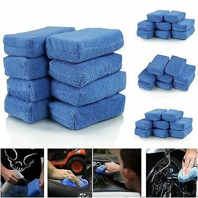 8 Pack Microfiber Applicator Pads Cleaning Wax Polish Sponge Car Foam Detailing