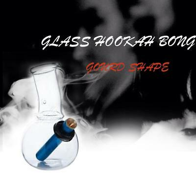 14cm Transparent Glass Hookah Bong Water Pipe Small Smoking Tobacco Gourd Shape