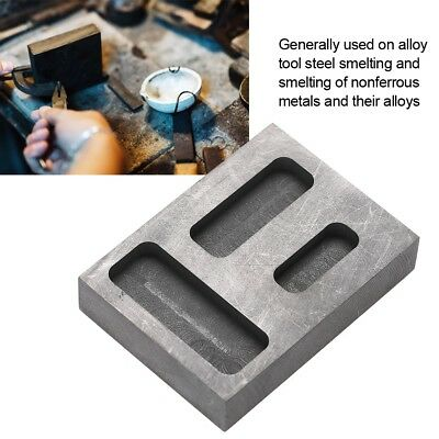 Graphite Ingot Melting Casting Refining Scrap Combo Mold For Gold Bar Round Coin