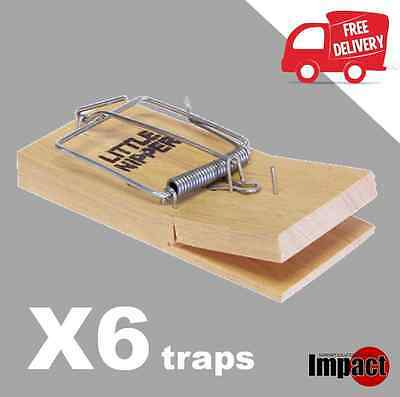 6 X Little Nipper Snap Traps Rodent Mice Mouse Killer Professional Trap