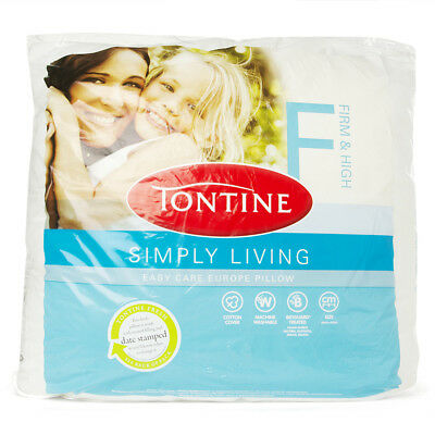NEW Tontine Simply Living Easy Care European Pillow