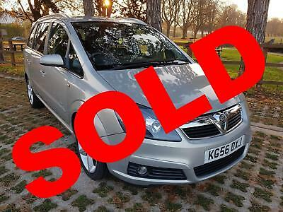 2006 (56) Vauxhall Zafira 1.9 Cdti Sri 150 Automatic Seven Seat Estate In Gold