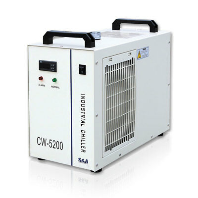 S&A 220V CW-5200AH Industrial Water Chiller for One 130-150W CO2 Laser Tube Cool