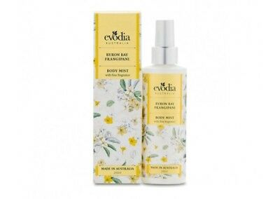 2 X evodia Byron Bay Frangipani Body Mist 200ml