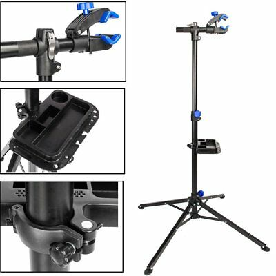 Bike Repair Stand Adjustable Height Bicycle Maintenance Rack Workstand + Tray MY