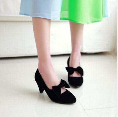 Womens Ankle Straps Buckles Chunky High Heels Lolita Pumps Girls Shoes Party U36