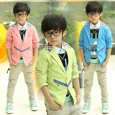 Spring/Autumn Thin Fashion Boys Blazers Kids Jackets Suits Outerwear Tops Baby