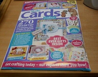 Make Cards Today Series magazine JAN 2019: 32 Papers, 16 Stamps, 121 Toppers, 12