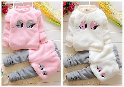 3pcs Newborn kids baby Girls Warm coat+pants Outfits & set Girls Winter clothes