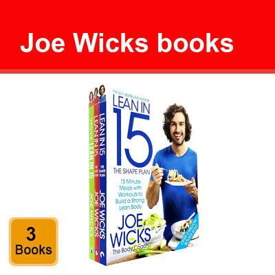 Joe Wicks Lean in 15 Collection 2 Books Set Healthy pack Shift and Sustain Plan
