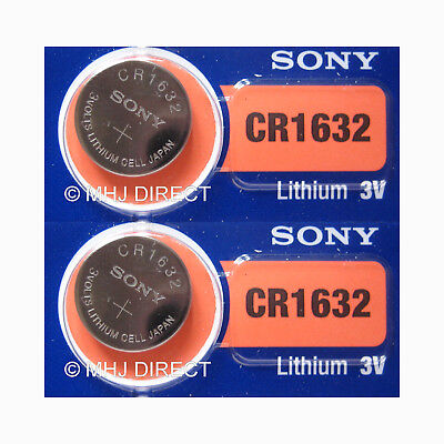 2 x SONY Lithium 3v Battery CR1632 DL1632 Coin Cell Best Before Use By Date 2028