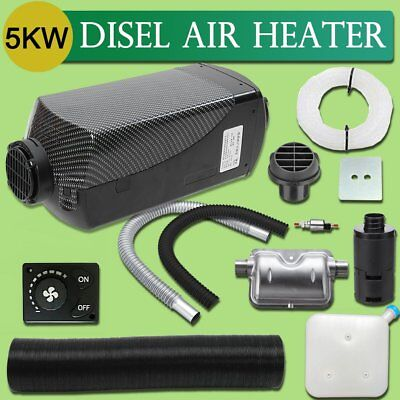 12V 5KW Diesel Air Heater Tank Vent Duct Knob Thermostat Silencer Caravan FK