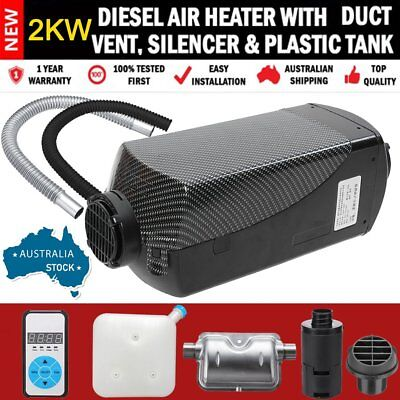 AU STOCK 12V Digital Air Diesel Fuel Heater 2KW F/ Boat Bus Car & Accessories FK