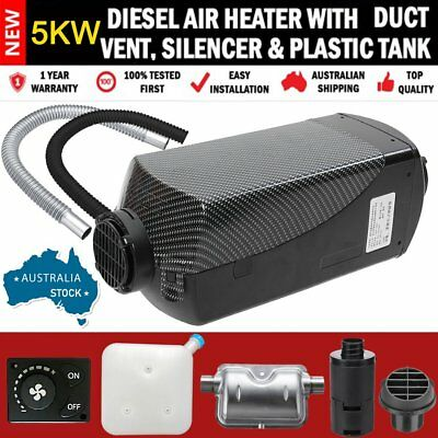 AU STOCK 12V Knob Air Diesel Fuel Heater 5KW F/ Boat Bus Car & Accessories FK