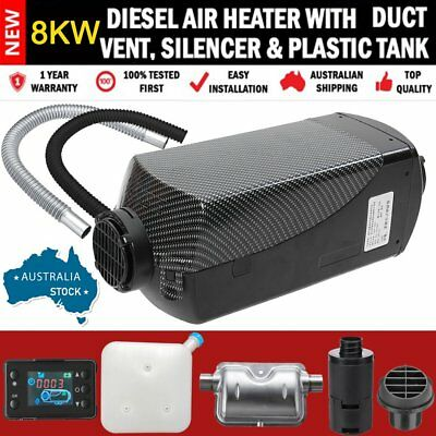 AU STOCK 12V LCD Air Diesel Fuel Heater 8KW F/ Boat Bus Car & Accessories FK