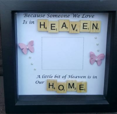 personalise with a photo and any words memory box frame 15 00