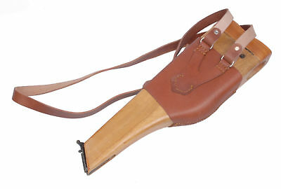 Repro WWII WW2 German Mauser Broomhandle Leather Holster And Wood Stock
