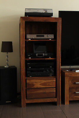 HIFI RACK Regal Schrank Sheesham Massiv Holz Gebraucht Super