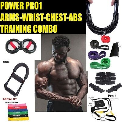 Power Pro1 Super Arms Combo Abs Chest Ems Resistance Bands Homegym Training