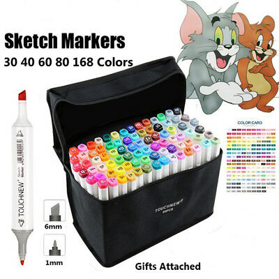 30 40 60 80 Colors Watercolor Drawing Painting Brush Artist Sketch Marker Pen