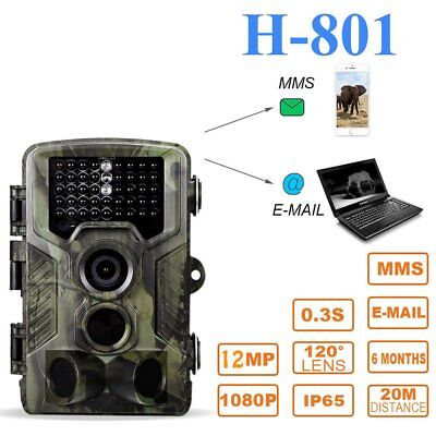 Hunting Trail Game Camera 12MP 1080P Infrared Night Vision 65ft Flash Range MY