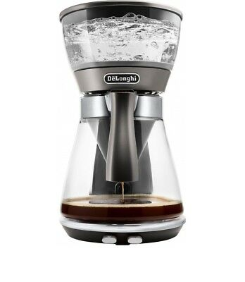 DeLonghi ICM17210 Clessidra coffee machine 0132301135 glass / silver for 10 cups