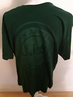 Jameson Irish Whiskey T Shirt Solid Green Size XL Sample 100% Cotton