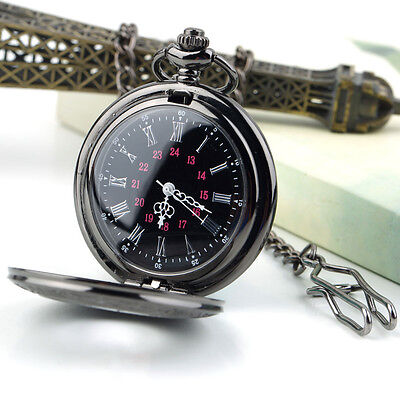 Steampunk Retro Vintage Mechanical Chain Quartz Pocket Watch Roman Pattern BR