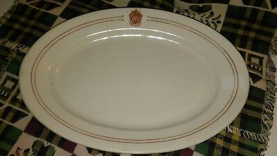 Vintage The Gilsey Hotel Restaurant ware serving Platter Oval Plate ML China ADV